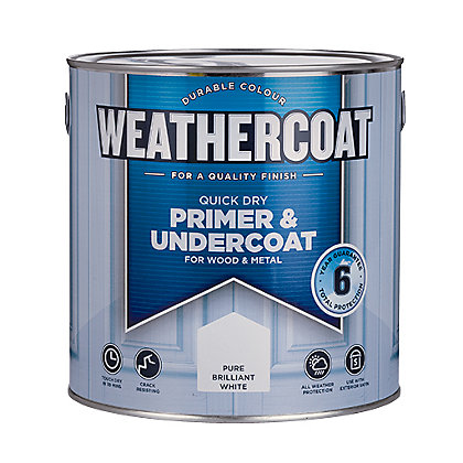 Image for Weathercoat Quick Dry Primer Undercoat - Pure Brilliant White - 2.5L from StoreName