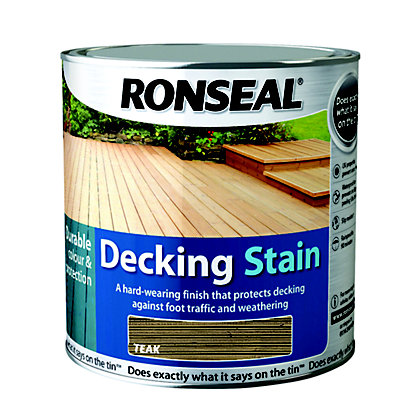 Image for Ronseal Decking Stain Teak - 2.5L from StoreName