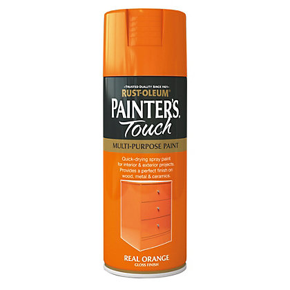 Image for Rust-Oleum Gloss Spray Paint - Real Orange - 400ml from StoreName