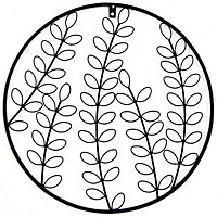 Fern And Flowers Wall Art