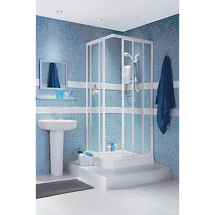 Image for Haze Corner Entry Shower Enclosure and Tray - 800 x 800mm from StoreName