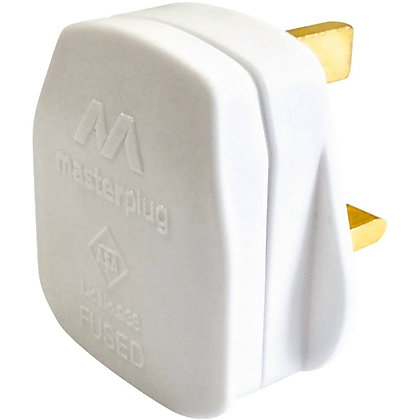 Image for Homebase 13A Fused Plug - White from StoreName
