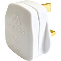 13A Fused Plug - White - Pack Of 4