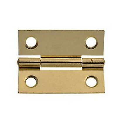 Image for Cabinet Butt Hinge Electro Brass - 50mm - Pack of 2 from StoreName