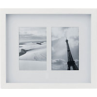 White Photo Frame - 2 Aperture