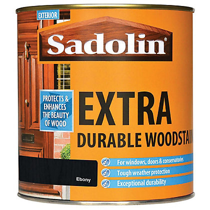 Image for Sadolin Extra Durable Woodstain - Ebony - 1L from StoreName