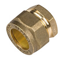 Compression Stopend - Brass - 15mm