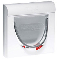 Staywell Magnetic 4-Way Cat Flap - White