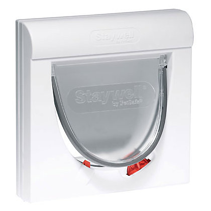 Image for Staywell Magnetic 4-Way Cat Flap - White from StoreName