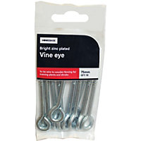 Vine Eye to Screw ZP - 76mm - 10 - Pack