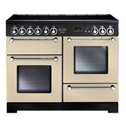 Image for Rangemaster Kitchener Electric Ceramic Cooker - Cream & Chrome from StoreName