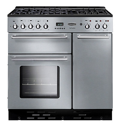 Image for Rangemaster Toledo 73580 90cm Natural Gas Cooker - Silver from StoreName