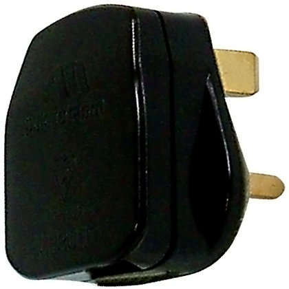 Image for Homebase 13A Fused Plug - Black from StoreName