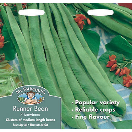 Image for Runner Bean Stringless Prizewinner (Phaseolus Coccineus) Seeds from StoreName
