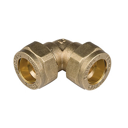Image for Compression 90 Degree Bend - Brass - 15mm from StoreName