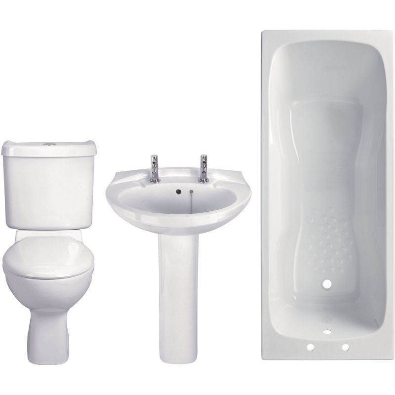 Homebase Fitted Bathrooms: Pacific Great Value Pack With Acrylic Bath