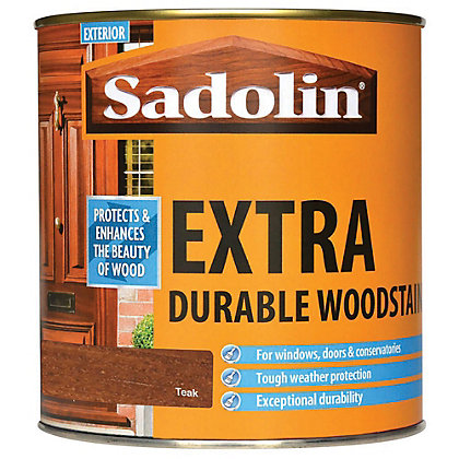 Image for Sadolin Extra Durable Woodstain - Teak - 1L from StoreName
