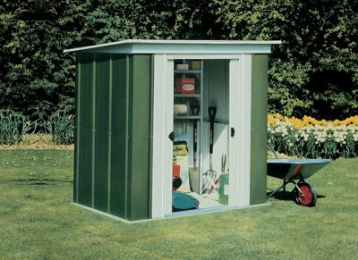 Metal shed base 6x4ft tuff shed at home depot for Garden shed qatar