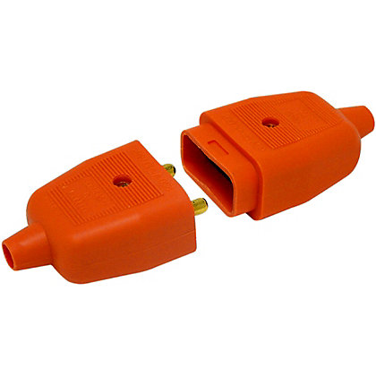 Image for Heavy Duty 2 Pin Flex Connector (Plug And Socket) - Orange from StoreName