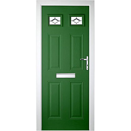 Image for Colonial 2 Top Lite Green Left Hand Hung Composite Door - 920mm Wide from StoreName