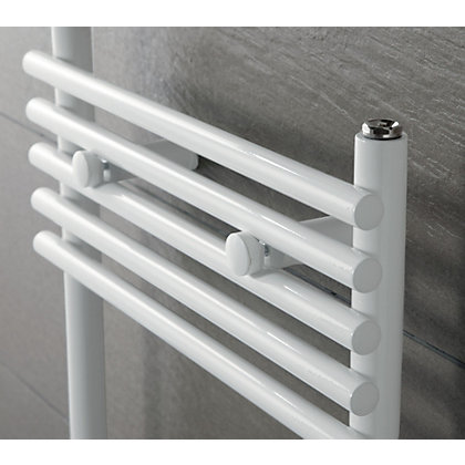 Image for Sardinia Heated Towel Rail - 1450 x 600mm - White from StoreName