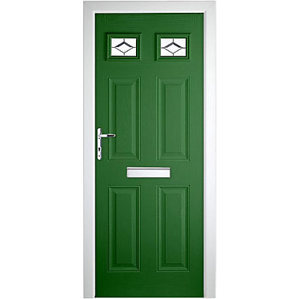 Image for Colonial 2 Top Lite Green Right Hand Hung Composite Door - 920mm Wide from StoreName