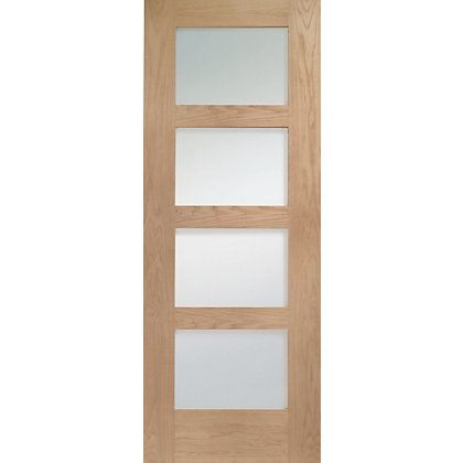 Image for 4 Lite Pre-Finished Oak Shaker Internal Door - 762mm Wide from StoreName