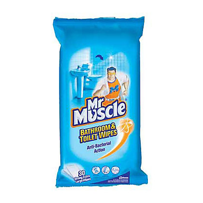Mr Muscle Bathroom Wipes 30 Pack