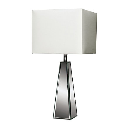 Image for Pyramid Table Lamp - Mirrored and White - 47cm from StoreName