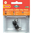 Magnetic Black Collar Mouse Keys - 2 Pack
