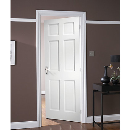 Image for Colonial 6 Panel Primed Stile & Rail Internal Door - 686mm Wide from StoreName