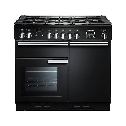 Image for Rangemaster Professional Plus 100cm Dual Fuel Range Cooker - Black from StoreName
