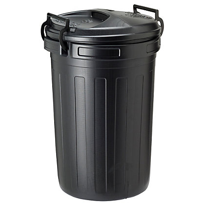 Image for Strata Clip Black Bin - 80L from StoreName