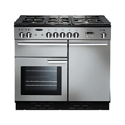 Image for Rangemaster Professional Plus 100cm Dual Fuel Range Cooker - Silver from StoreName