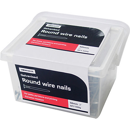 Image for Round Wire Nail - Galvanised - 50mm - 500g from StoreName