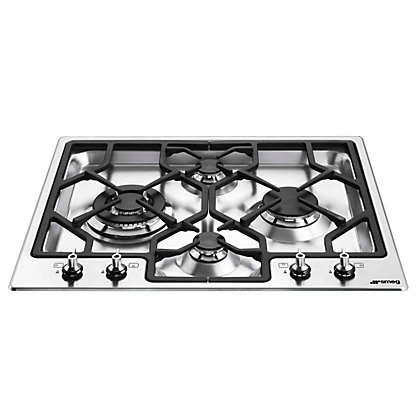 Image for Smeg PGF64-4 Ultra Low Profile Gas Hob - Stainless Steel from StoreName