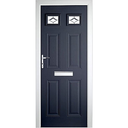 Image for Colonial 2 Top Lite Composite Door Set - Blue Right Hand Hung - 920mm Wide 2085mm High from StoreName
