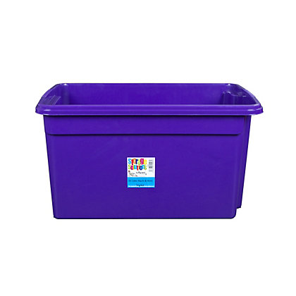 Image for 80L Violet Stack and Store Box from StoreName