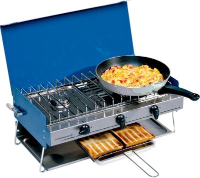 Image of Butane Campingaz Chef 2 Burners Camping Stove with Grill.