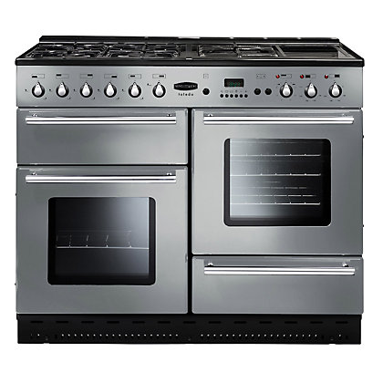 Image for Rangemaster Toledo 73210110 Dual Fuel Cooker - Silver from StoreName