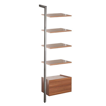 Image for Relax Storage Solution - Shelves and Drawer - Walnut from StoreName