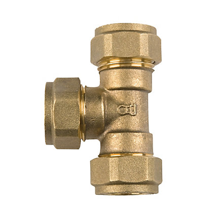 Image for Compression Equal Tee - Brass - 15mm from StoreName
