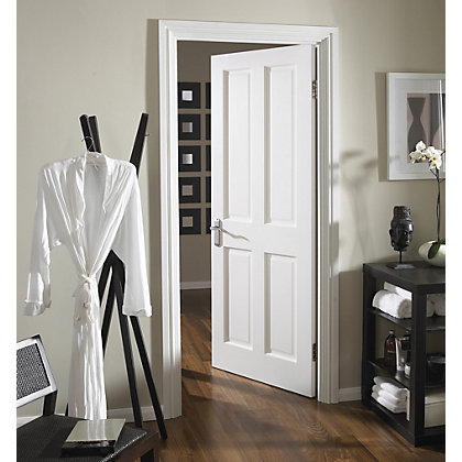 Image for London 4 Panel Primed Stile & Rail Internal Door - 610mm Wide from StoreName