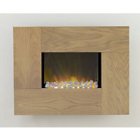 Adam Torino Electric Wall Hung Fire - Oak