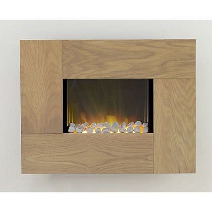 Image for Adam Torino Electric Wall Hung Fire - Oak from StoreName