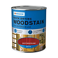 Homebase Quick Drying Woodstain Deep Mahogany - 750ml