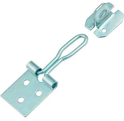 Wire Hasp and Staple Zinc Plated - 76mm