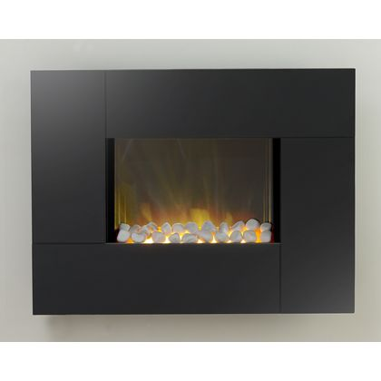 Adam Torino Electric Wall Hung Fire - Black