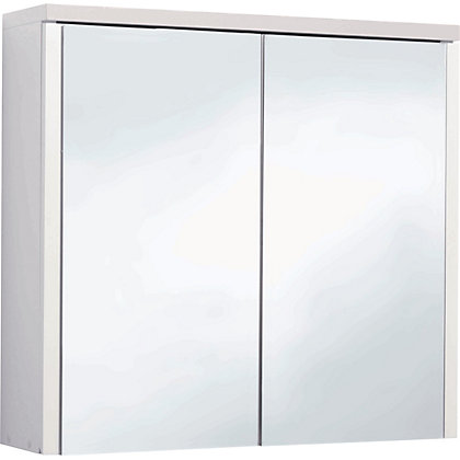 Image for Montana Double Swivel Mirror Door Bathroom Cabinet - White from StoreName