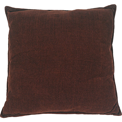 Image for Chenille Cushion - Chocolate - 58x58cm from StoreName